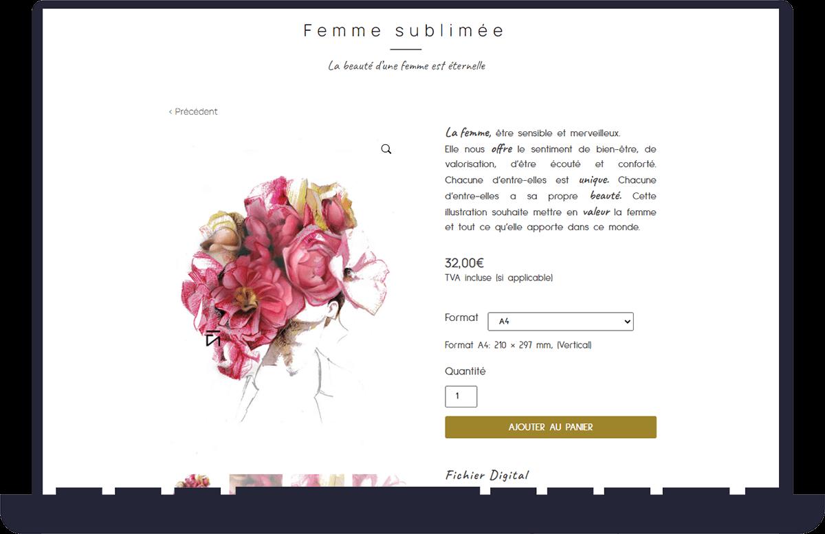 réalisation du site e-commerce Kre aVi