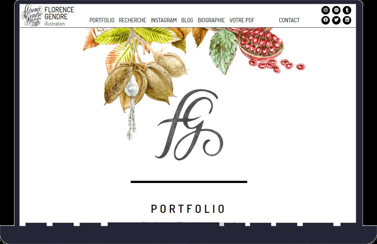 réalisation du site internet de Florence Gendre